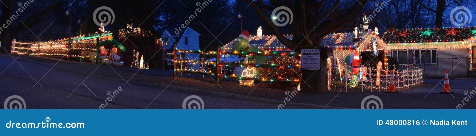 Fantasia maravilhosa das luzes de Natal
