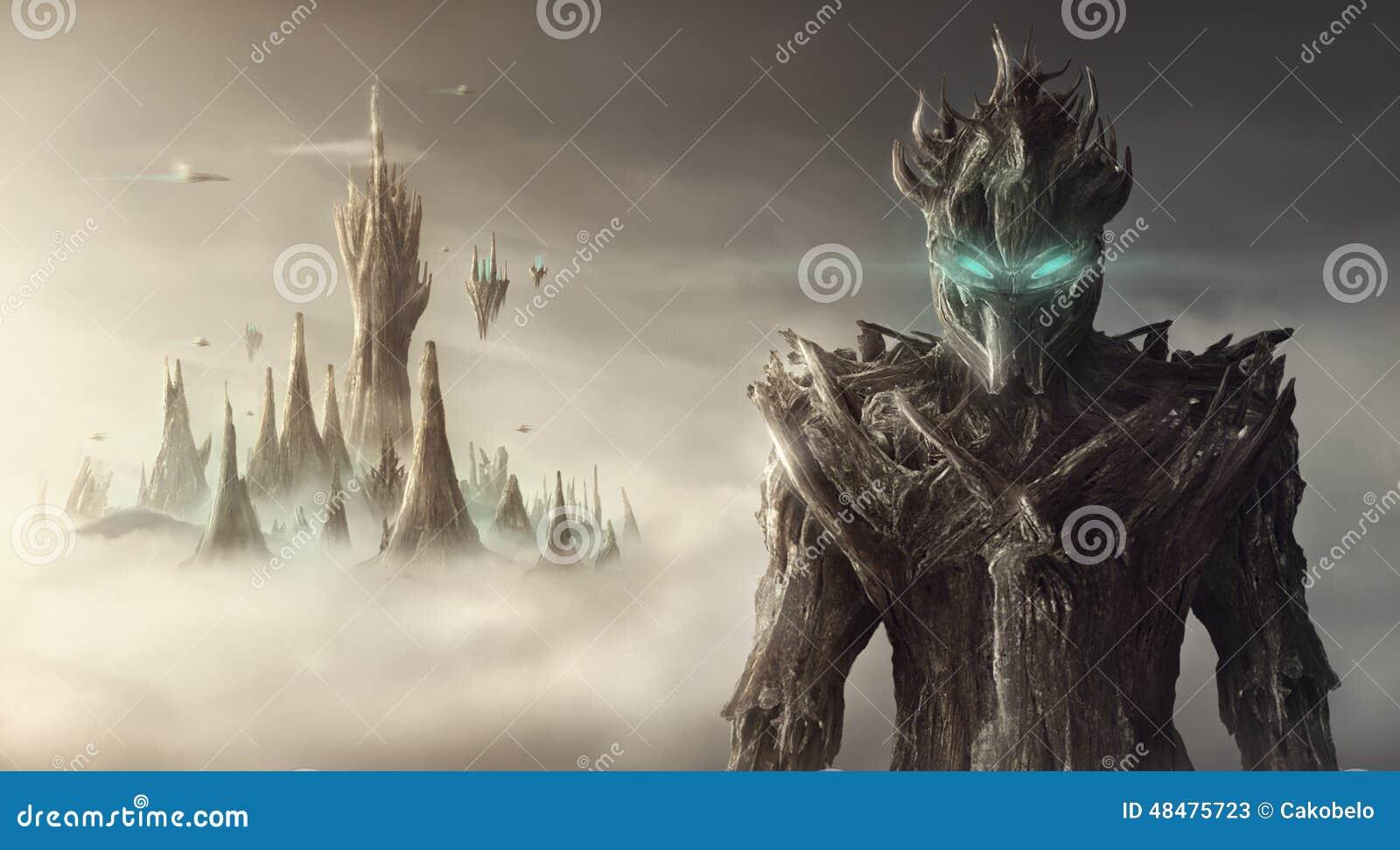 Fantasie artistiek beeld van een schepsel