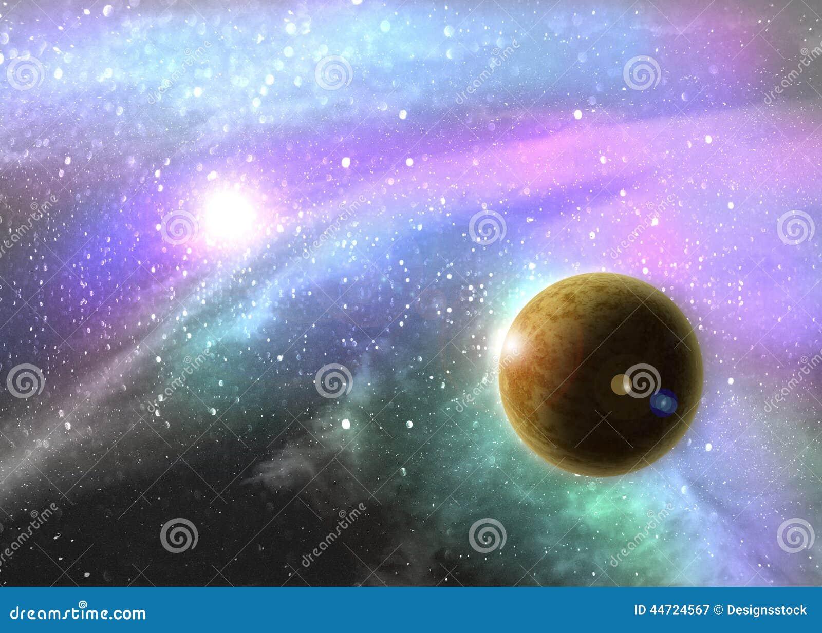 Fantasie diepe ruimtenevel