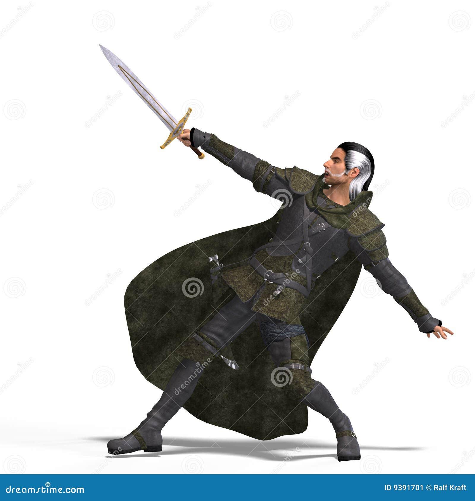 Fantasie-Gauner mit Klinge