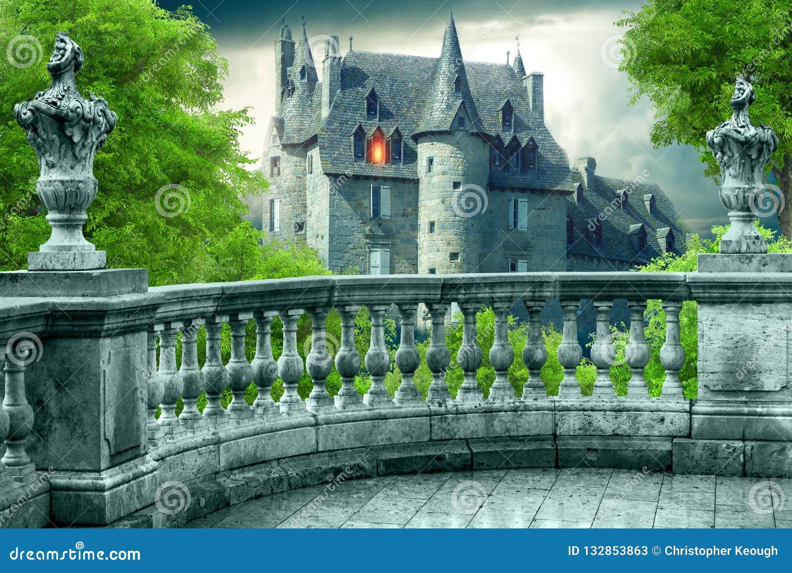 Fantasie-gotischer Balkon