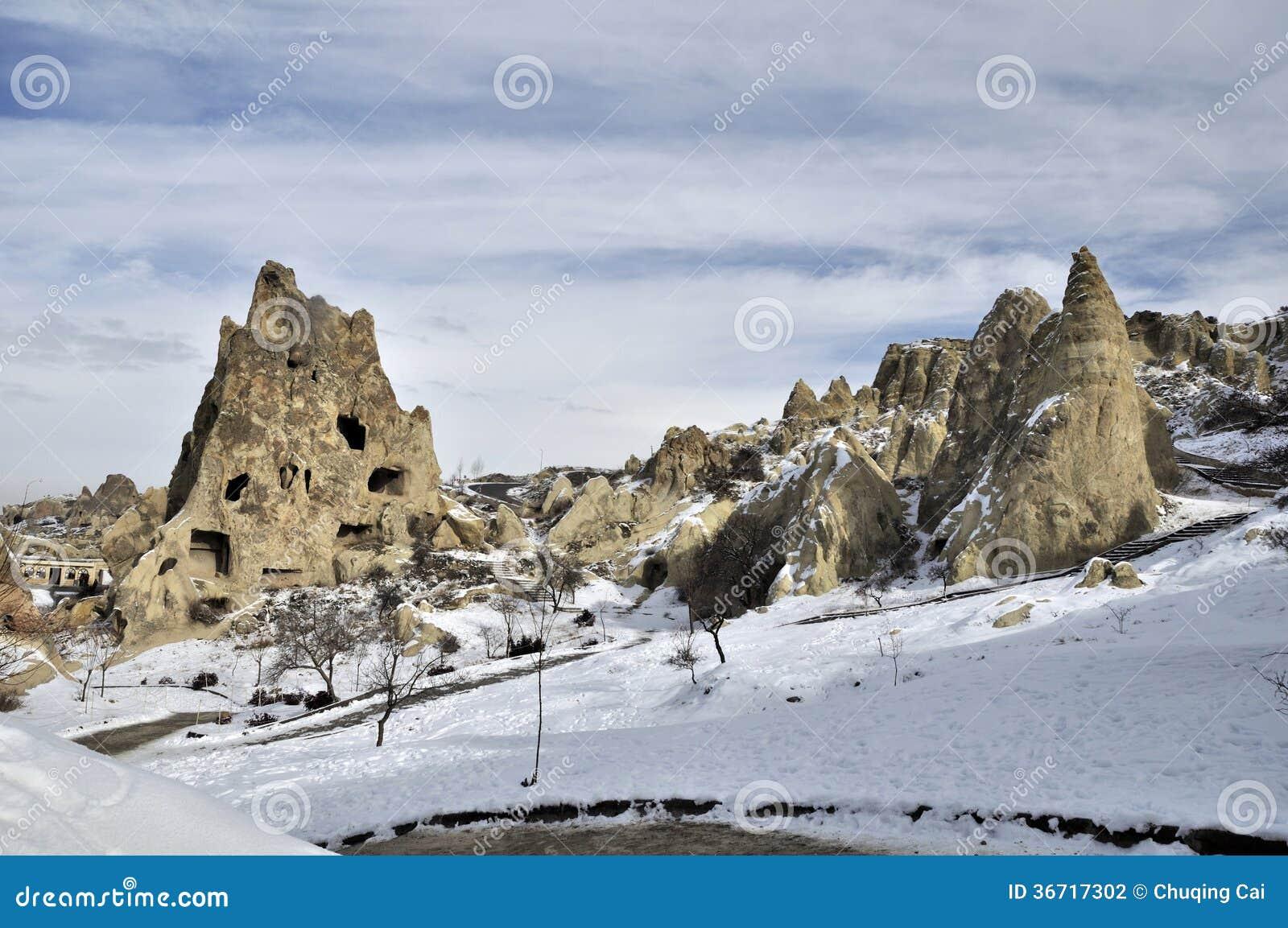 Fantasievol kalksteen in Cappadocia