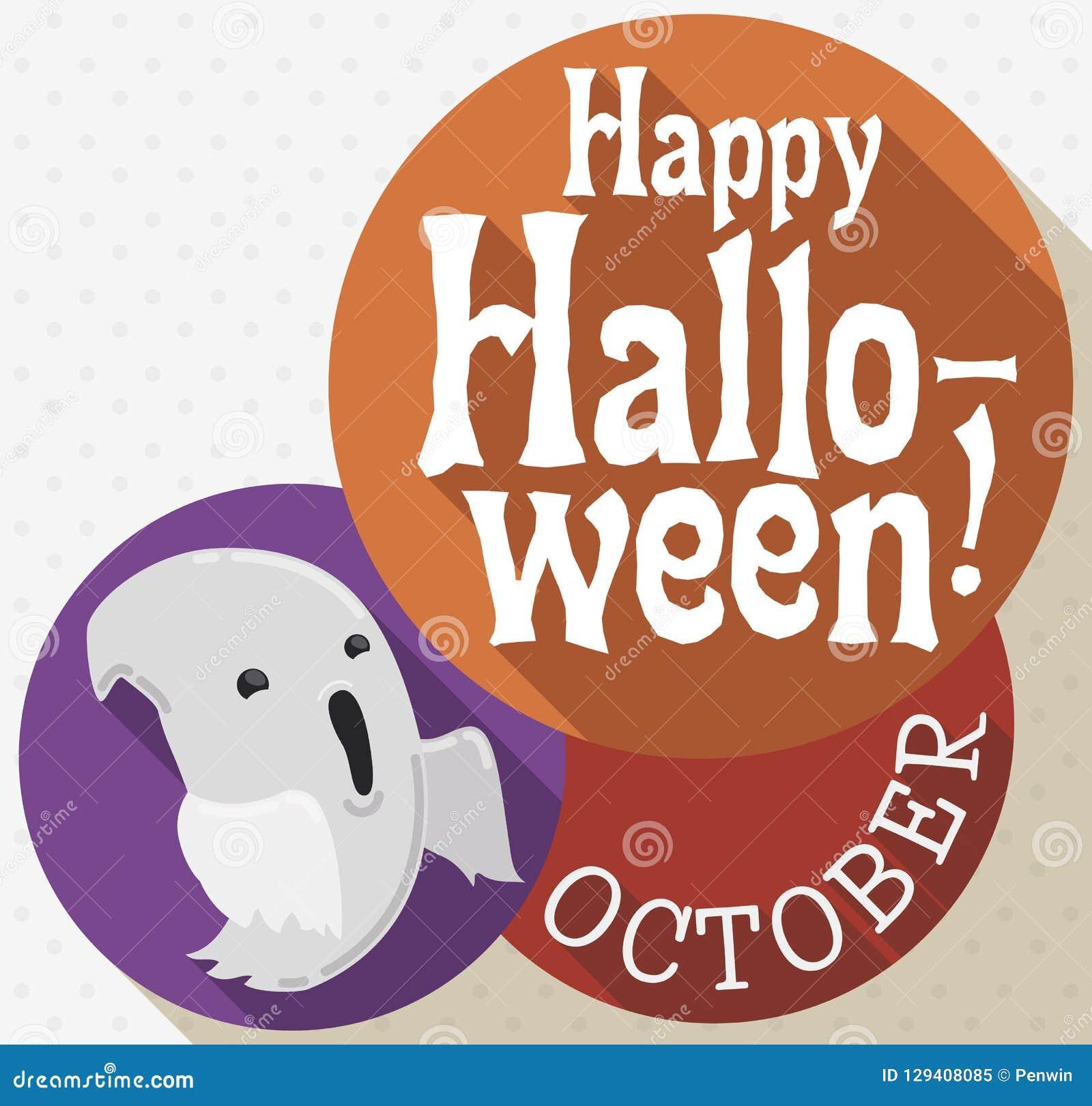 Data Di Halloween.Fantasma Piano Di Stile Con I Saluti E Data Per La Celebrazione Di