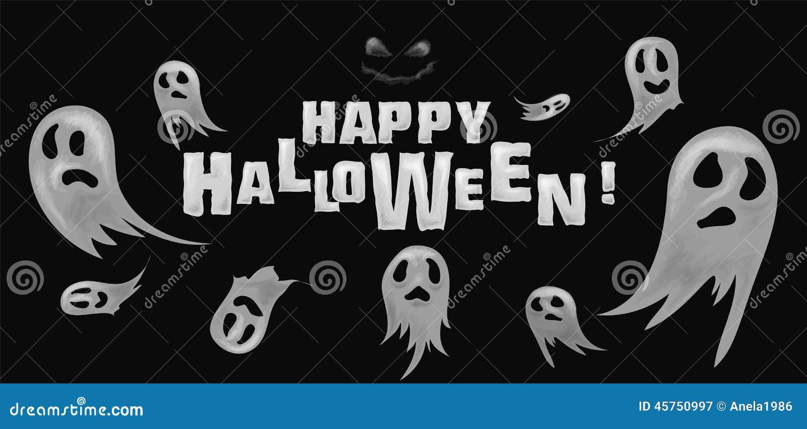 Fantasmi felici del fondo di Halloween