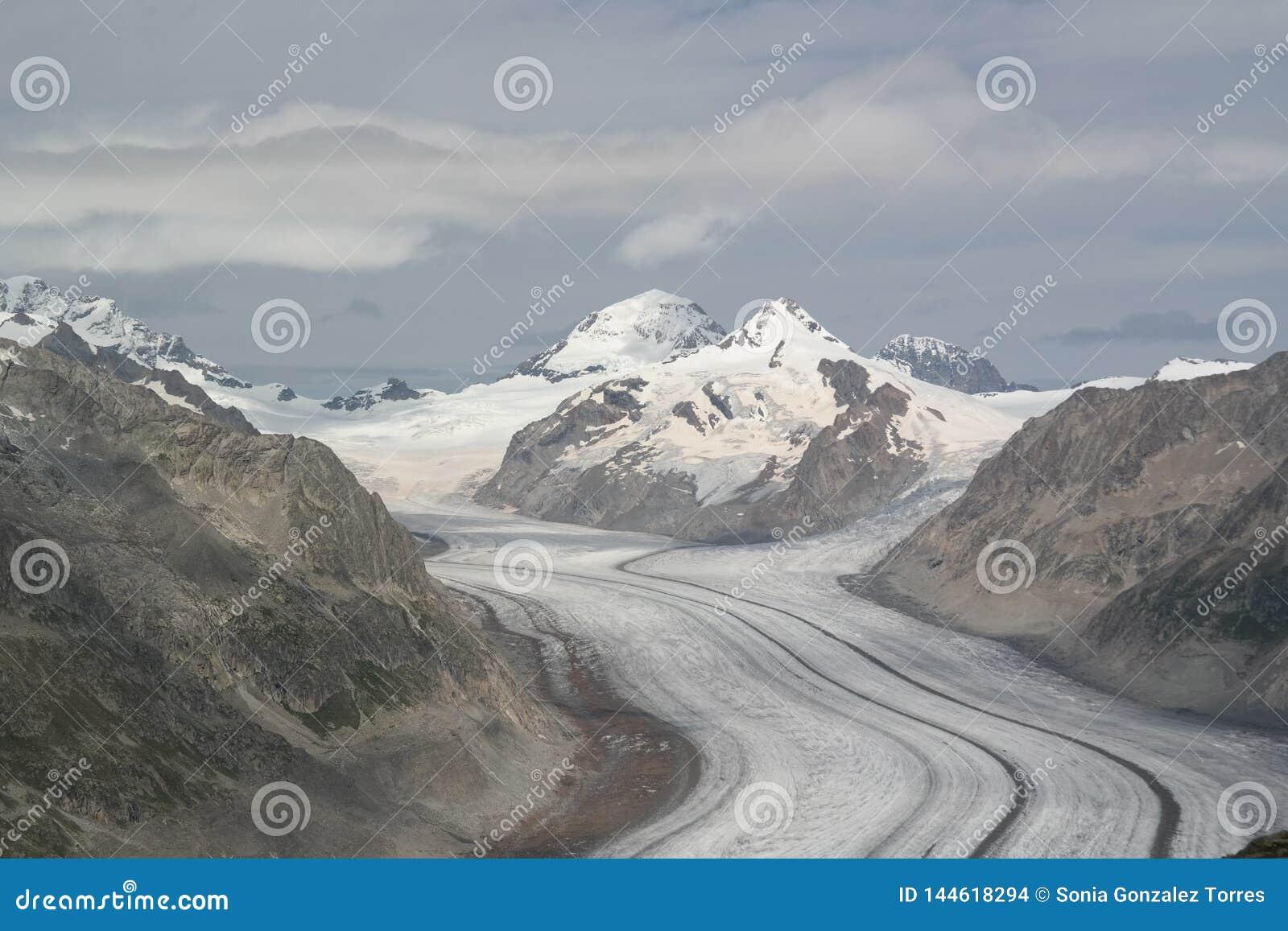 The fantastic Aletsch glacier.