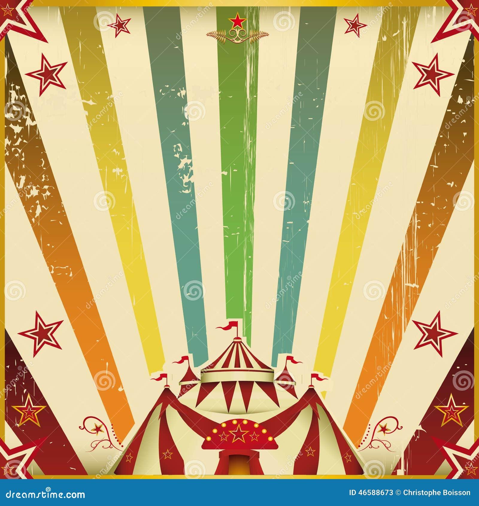 fantastic color circus square background stock image