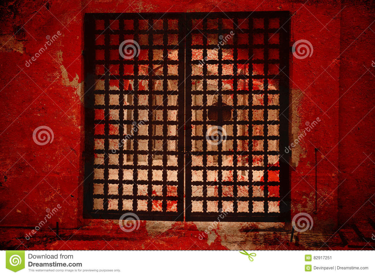 Fantastic Gate The Gate To Hell Stock Image Image Of Black