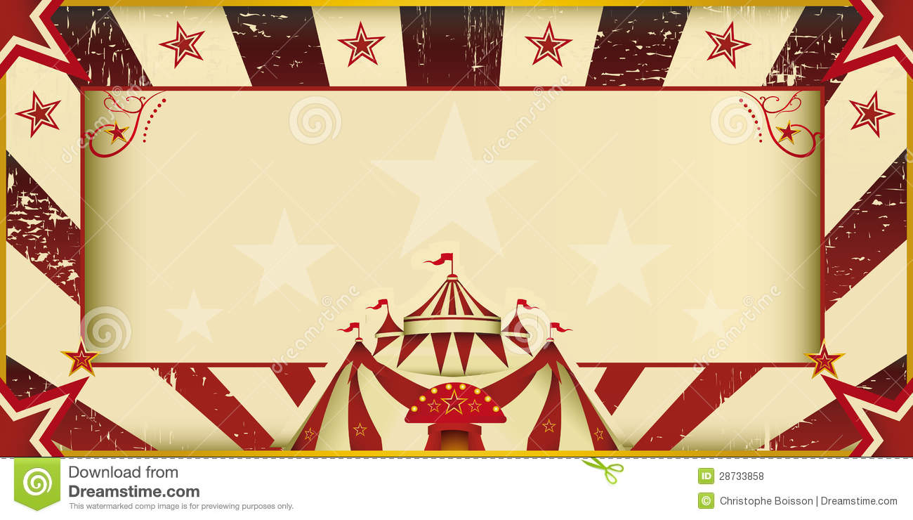 Fantastic Grunge Circus Invitation Royalty Free Stock