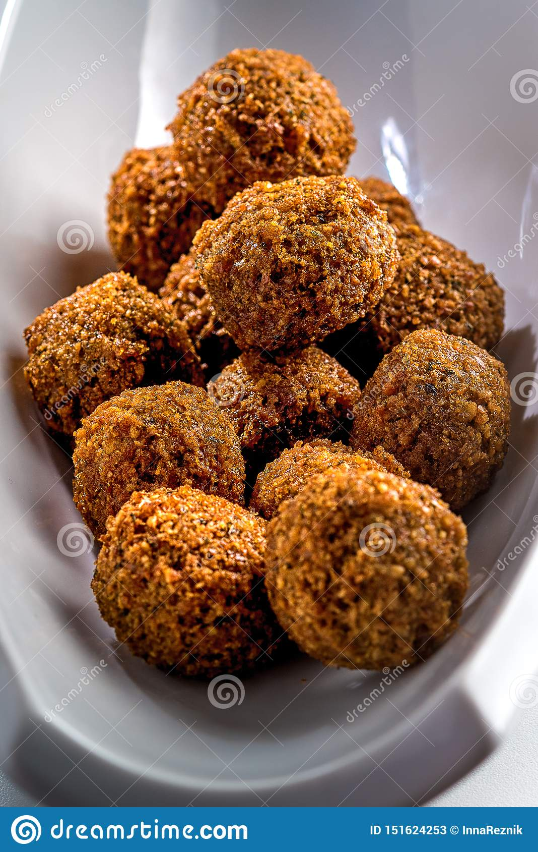 Fantastic and irresistible platter of just-fried falafel balls.