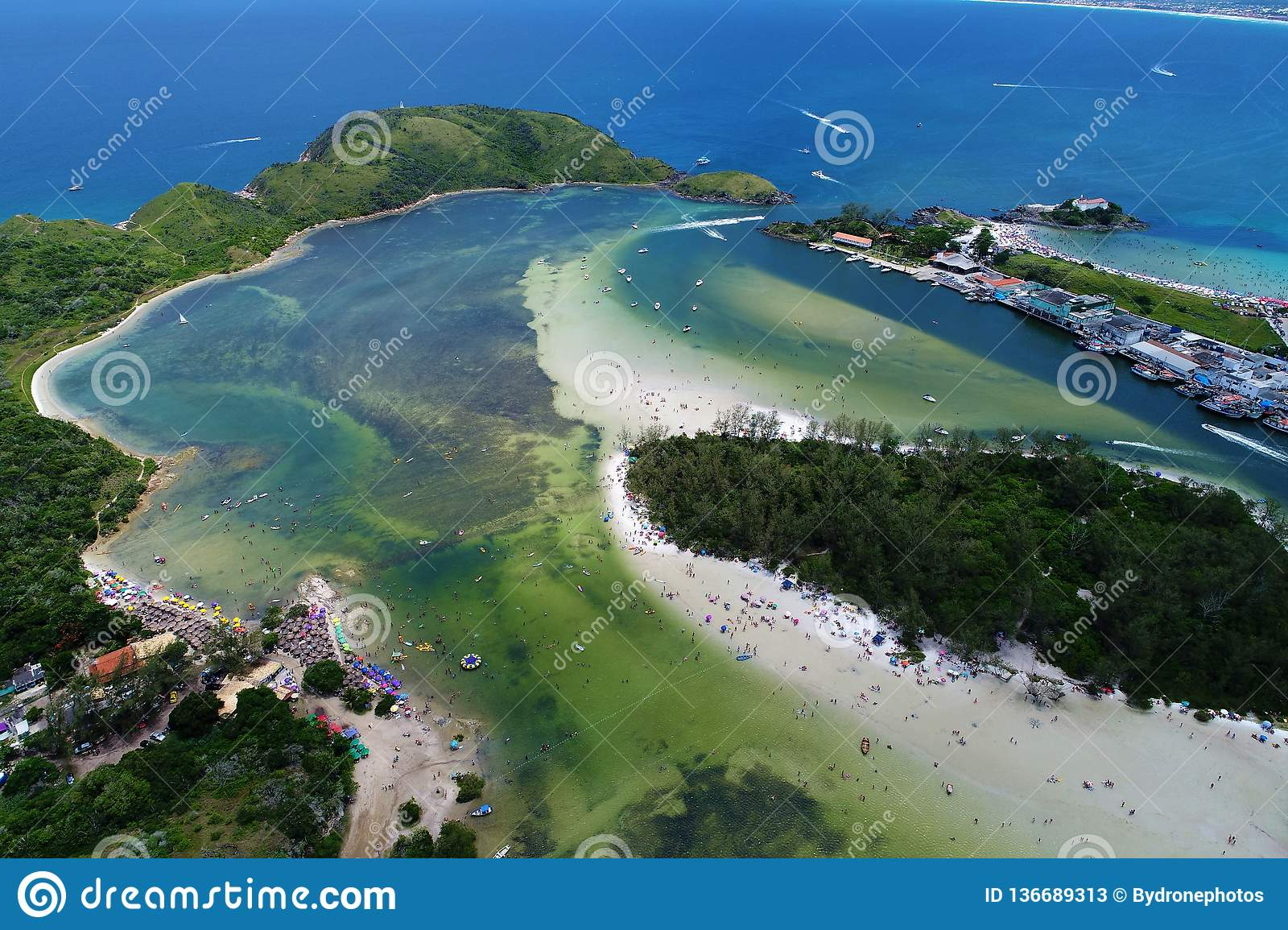 Cabo Frio, Brazil: View of Japanese Island with crystal water.