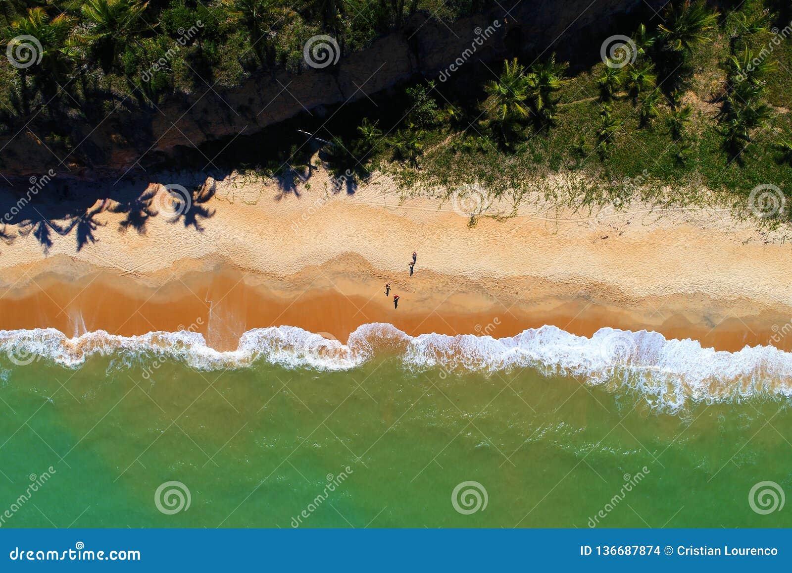 Cumuruxatiba, Bahia, Brazil: View of beautiful beach.