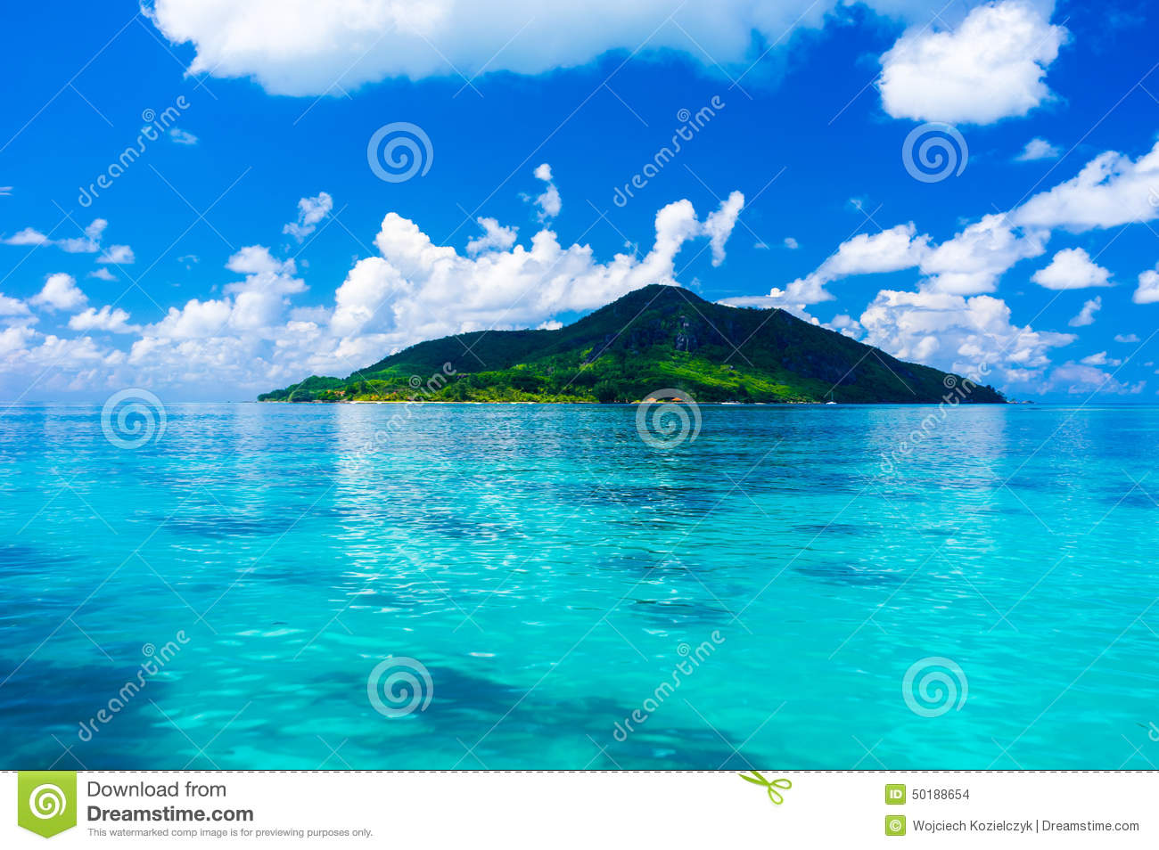 Fantastic Seychelles island - paradise - view from the sea