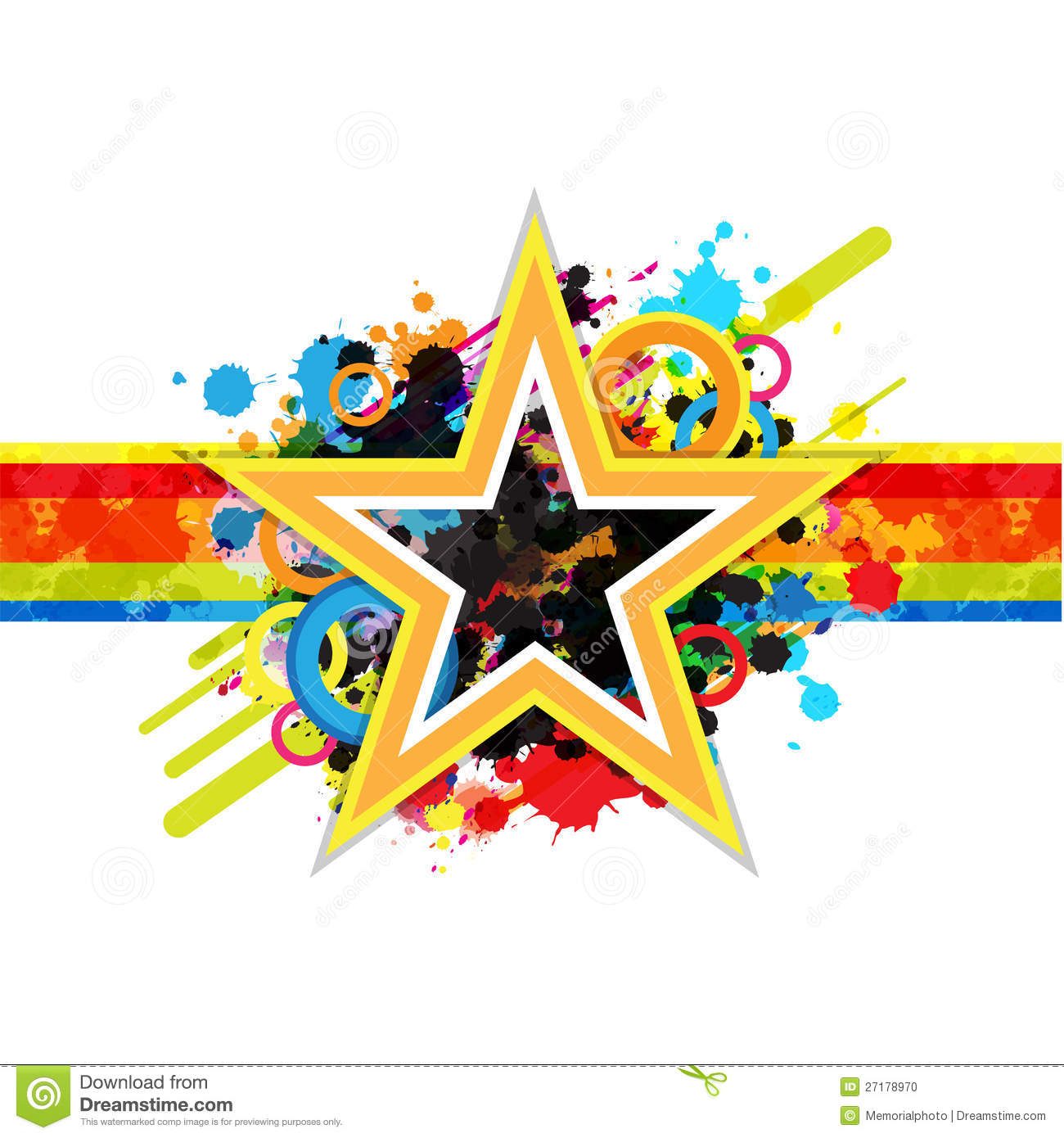 Fantastic Star Design Background Stock Photo - Image: 27178970