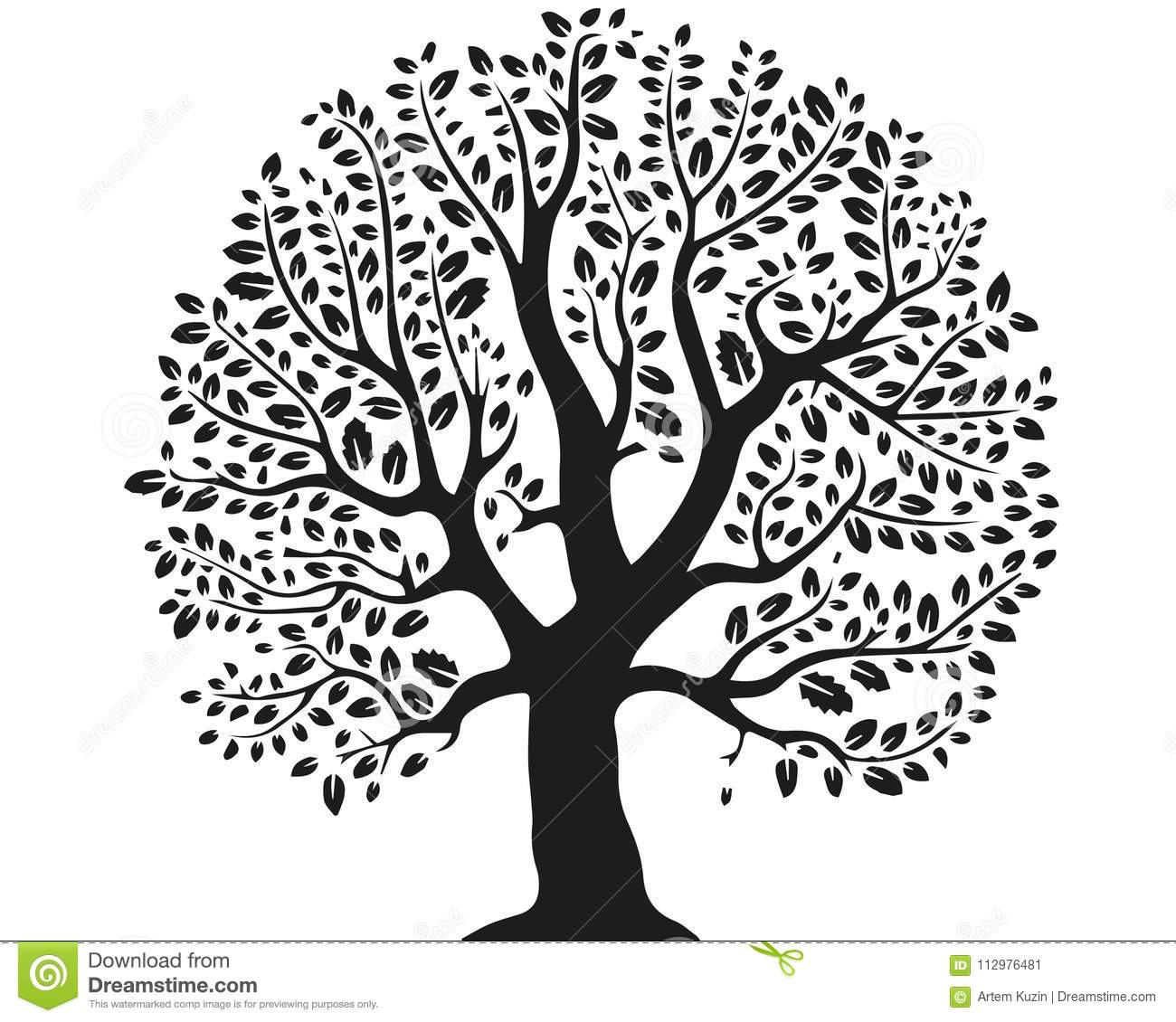 Fantastic tree on a white background