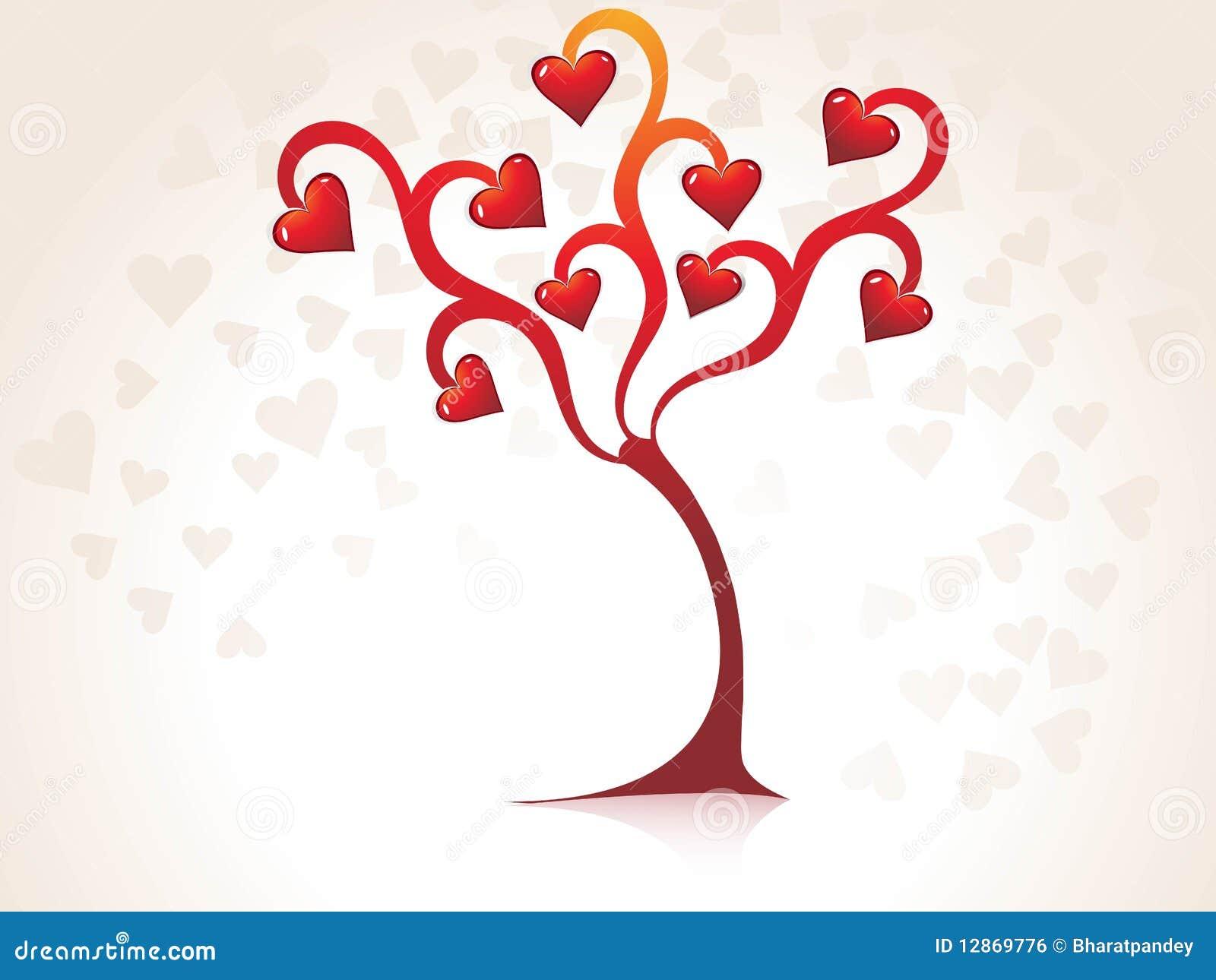 Fantastic Valentine S Day Tree Stock Vector Illustration Of Love