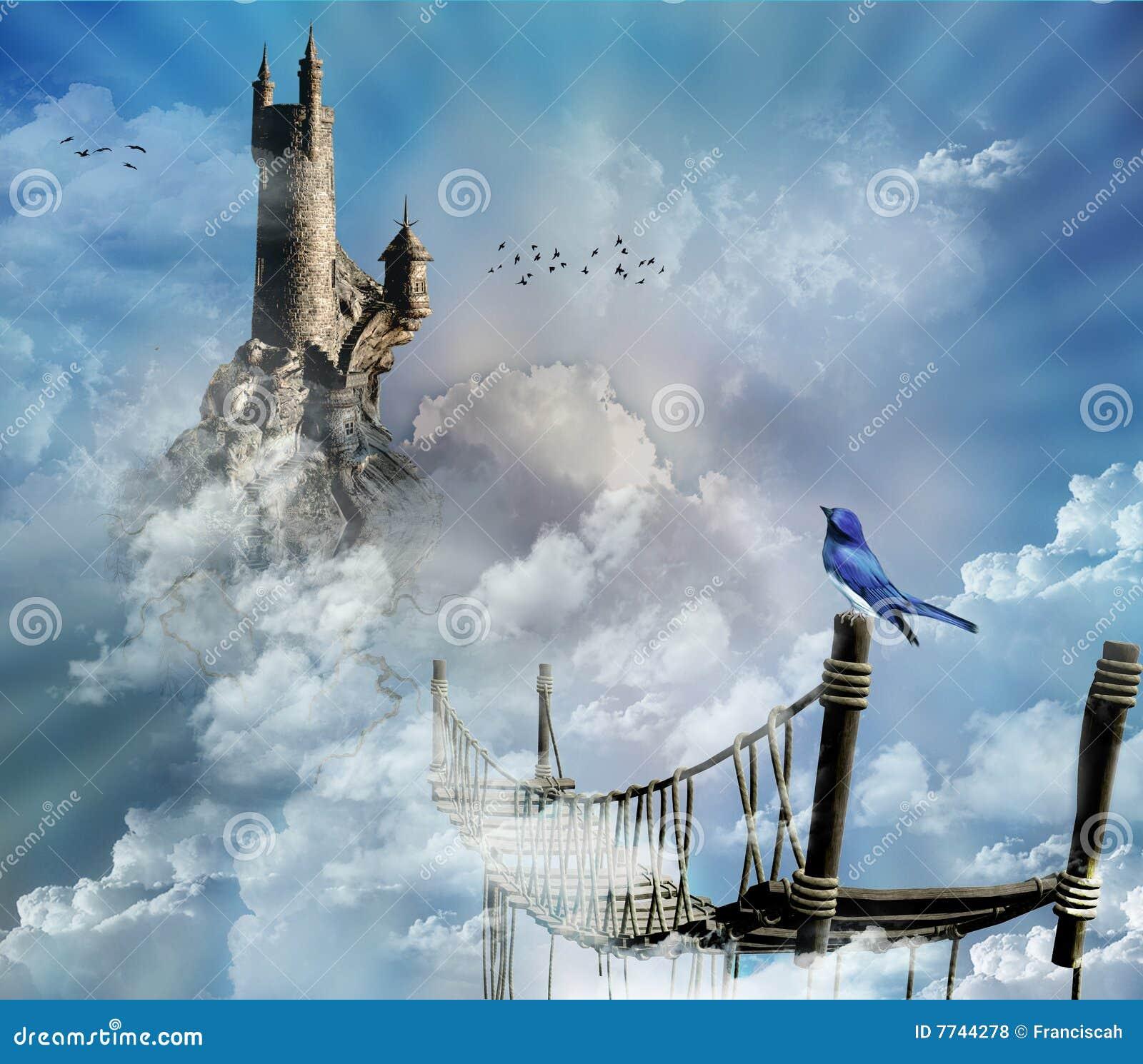 Fantastisch kasteel in de hemel