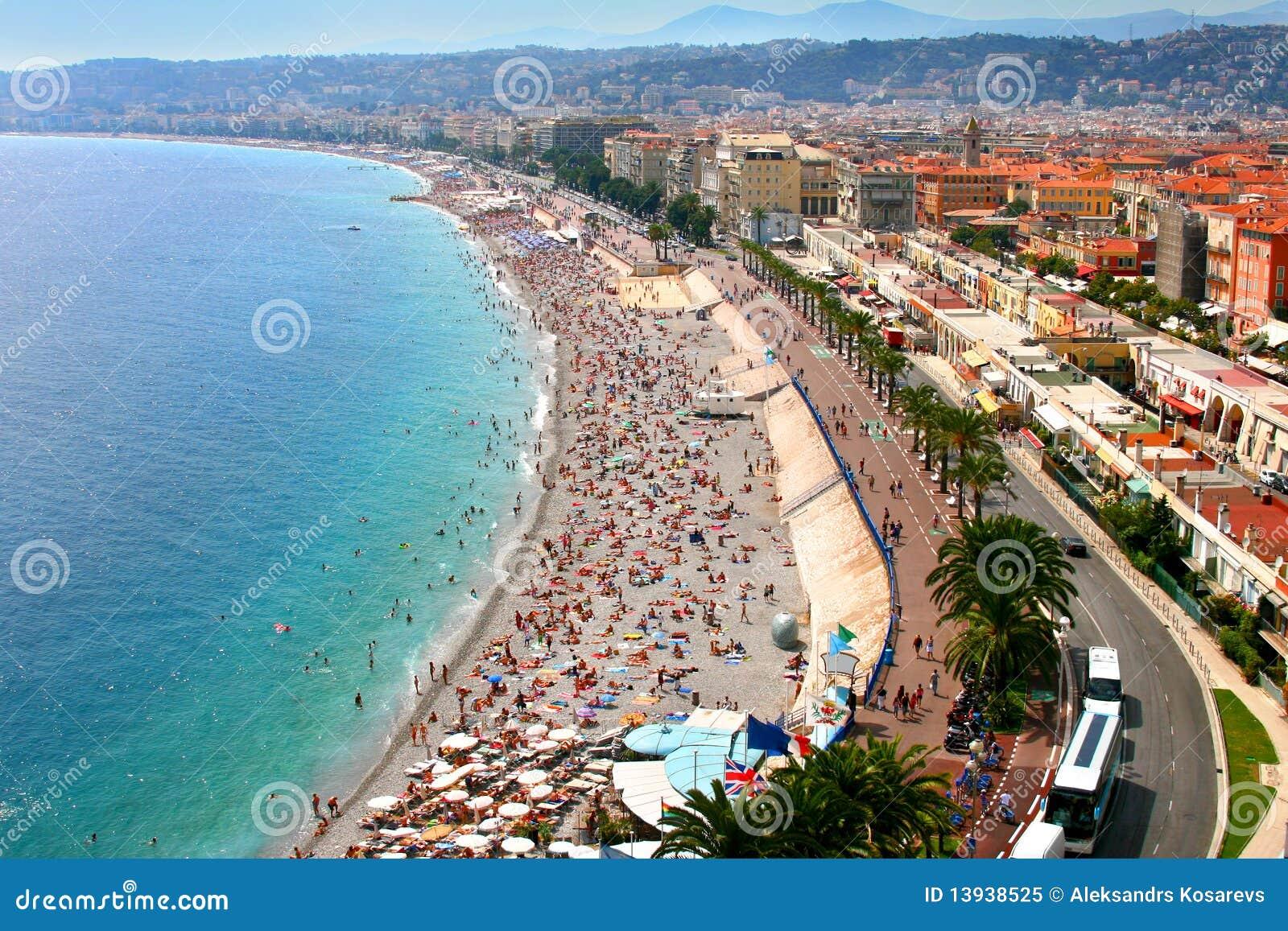 Fantastisch panorama van Nice, Frankrijk