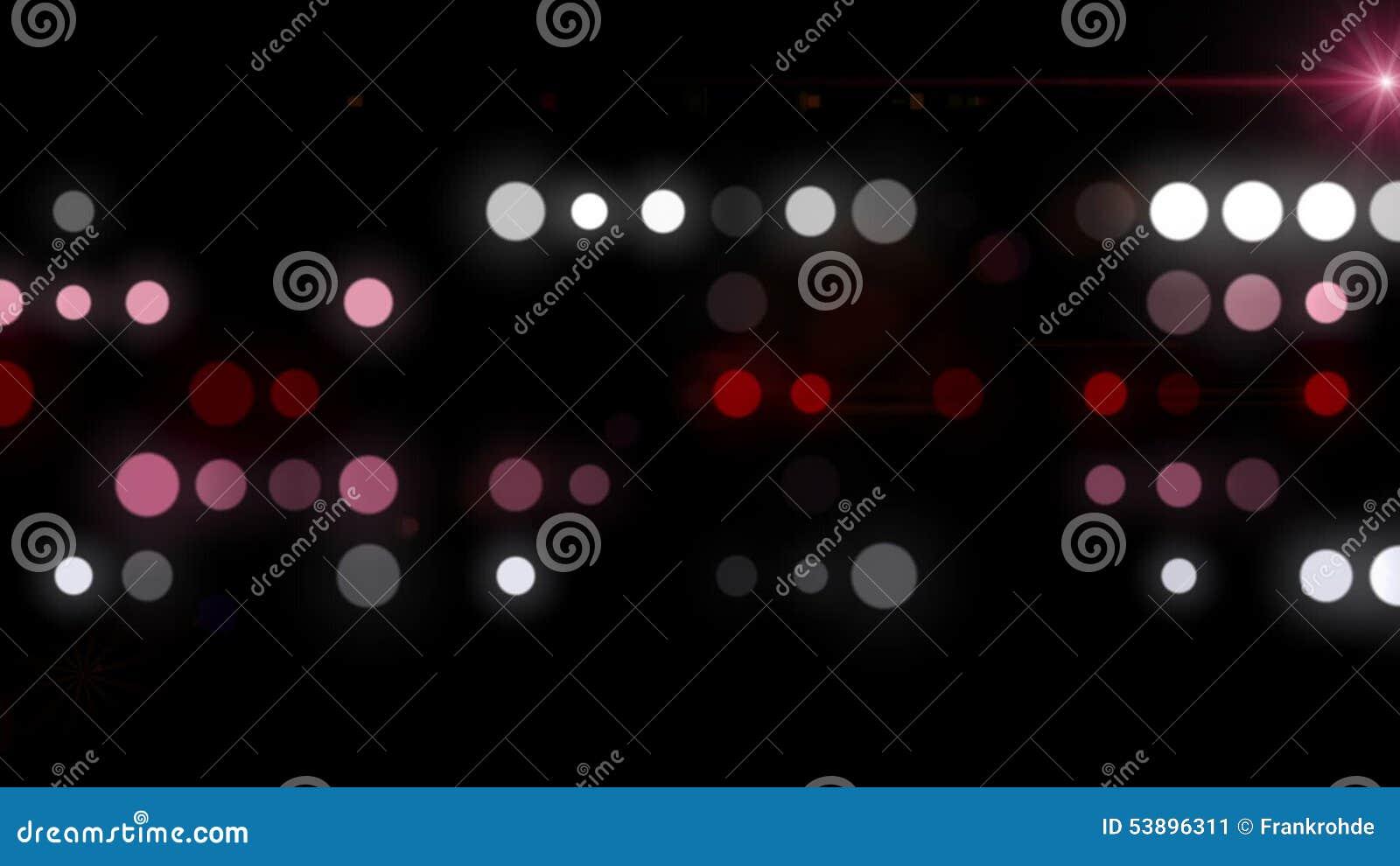 Fantastische Animation Mit Blasen Und Licht In Der Bewegung ...