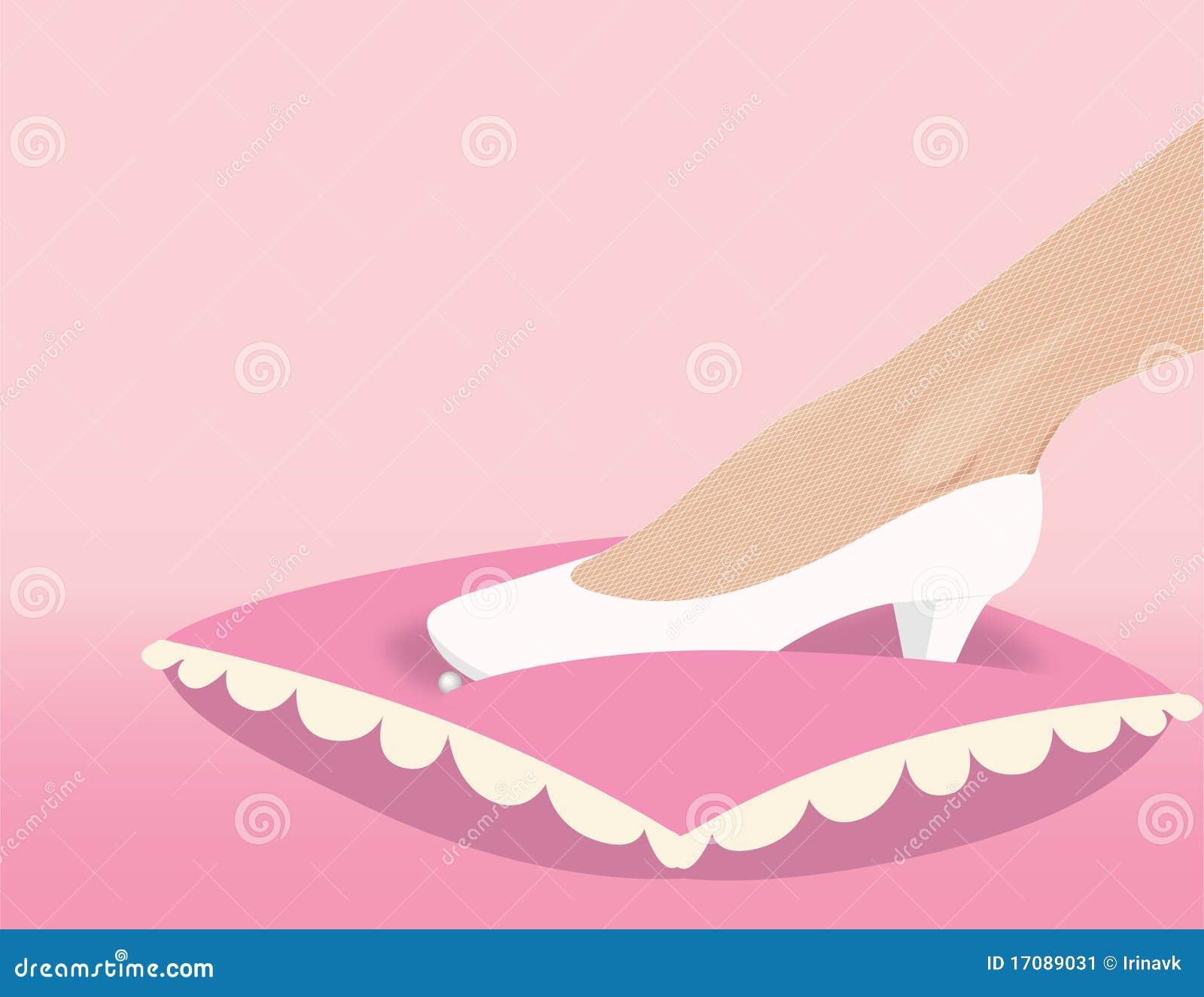 Fantastischer Schuh der Hochzeit