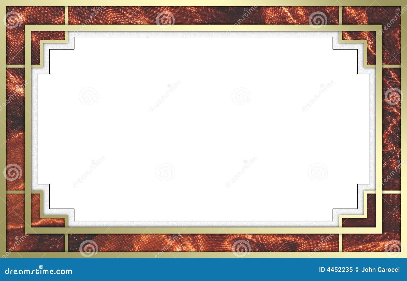 Fantastisches Gold Und Roter Bilderrahmen Stockbild - Bild von ...