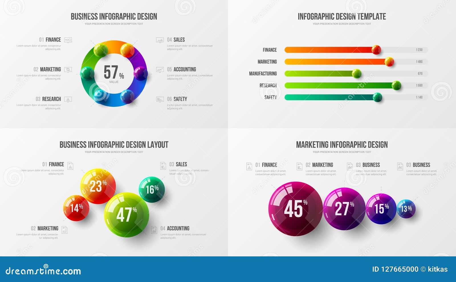 Fantastisk orientering för design för diagram för horisontalstång för affärsdata Färgrik 3D klumpa ihop sig den infographic bestå