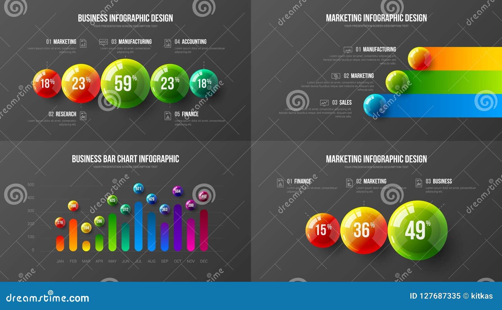 Fantastisk packe för illustration för vektor för orientering för design för diagram för stång för lodlinje för affärsdata