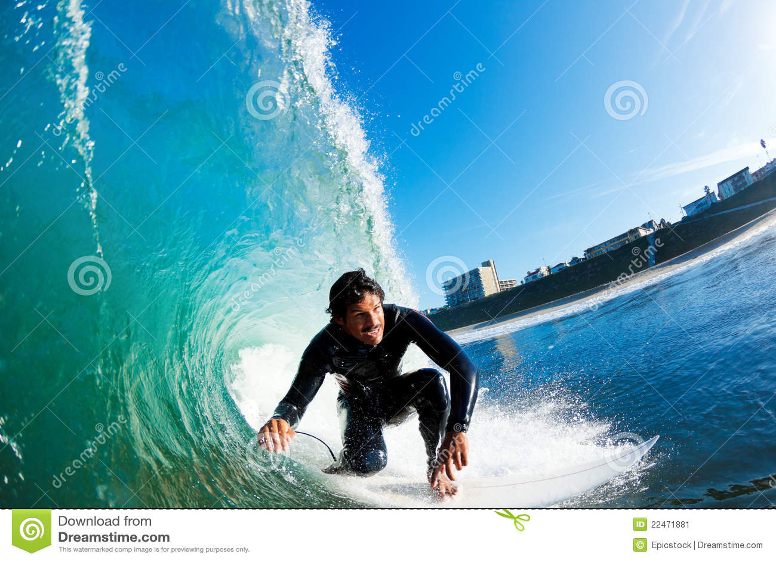 Fantastisk ridningsurfarewave