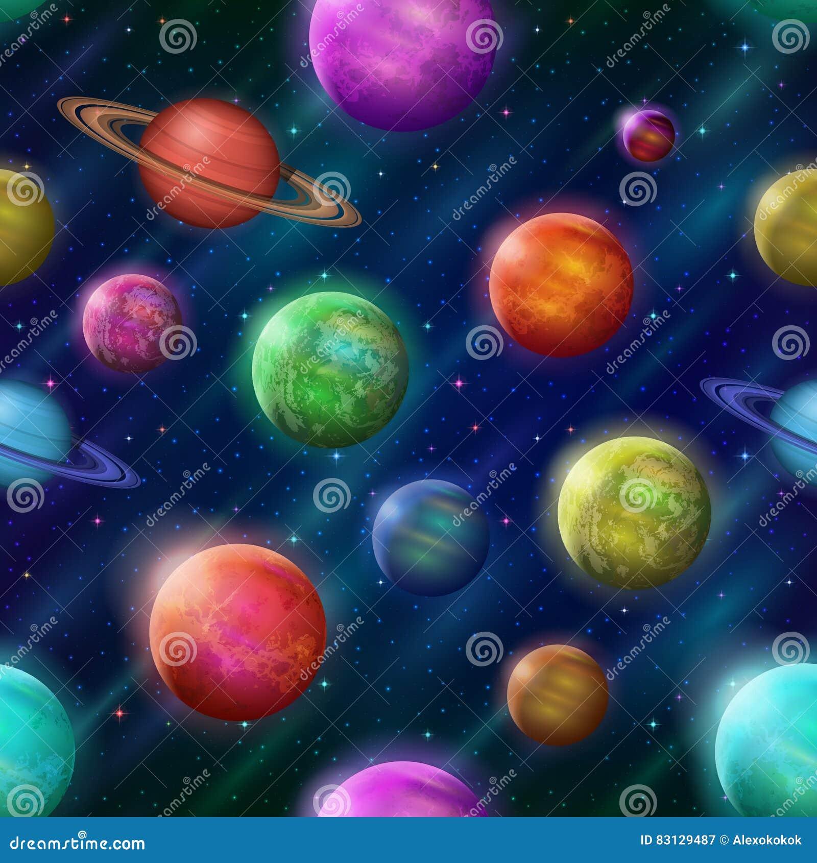 Fantastyczny astronautyczny tło, bezszwowy