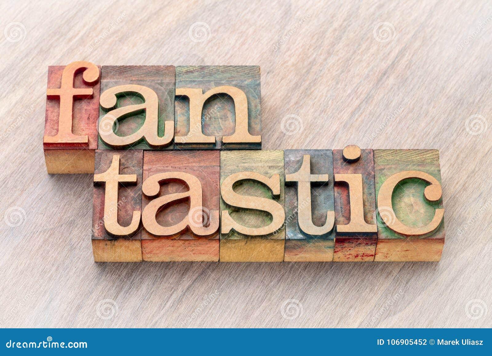 Fantastyczny słowo abstrakt w drewnianym typ