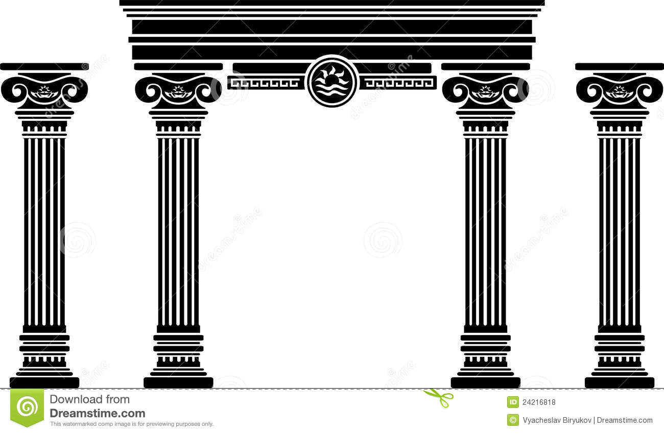 Fantasy Arch And Columns Royalty Free Stock Photos - Image ... Greek Columns Vector