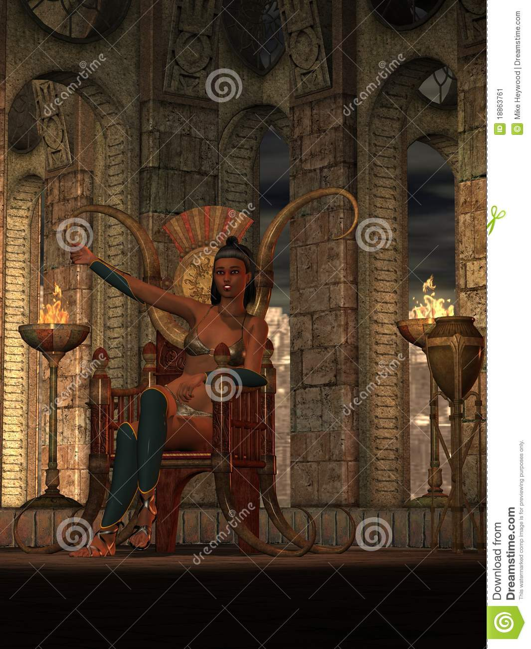 Fantasy Barbarian Queen Stock Image Image 18863761