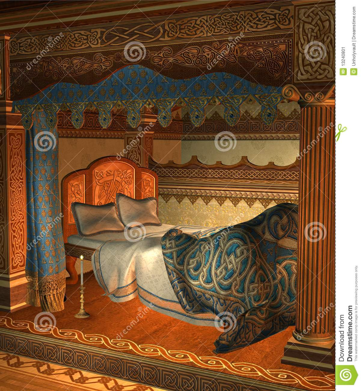 Fantasy Bedroom 3 Stock Image Image