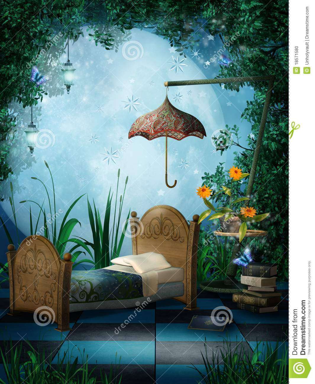 fantasy bedroom with lamps stock photo image 18571580 fantasy bedroom submited images