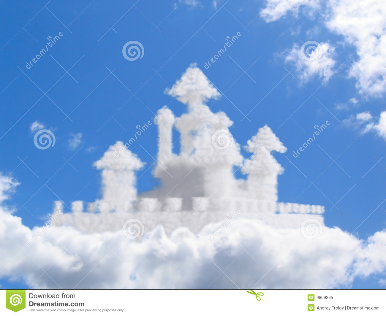 Abstract concept for earth nature religion stock photo image of fantasy castle in clouds royalty free stock photo kristyandbryce Gallery