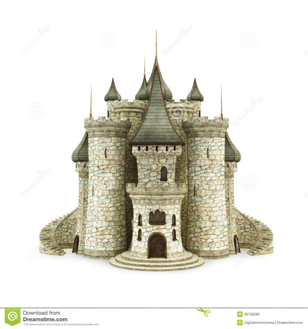 Fantasy Castle Royalty Free Stock Images Image 36769289