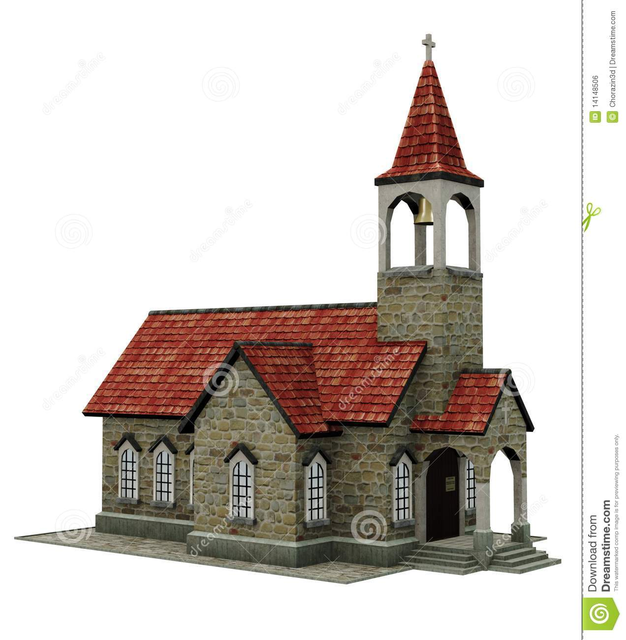 Fantasy church building stock illustration image of for Build house online 3d free