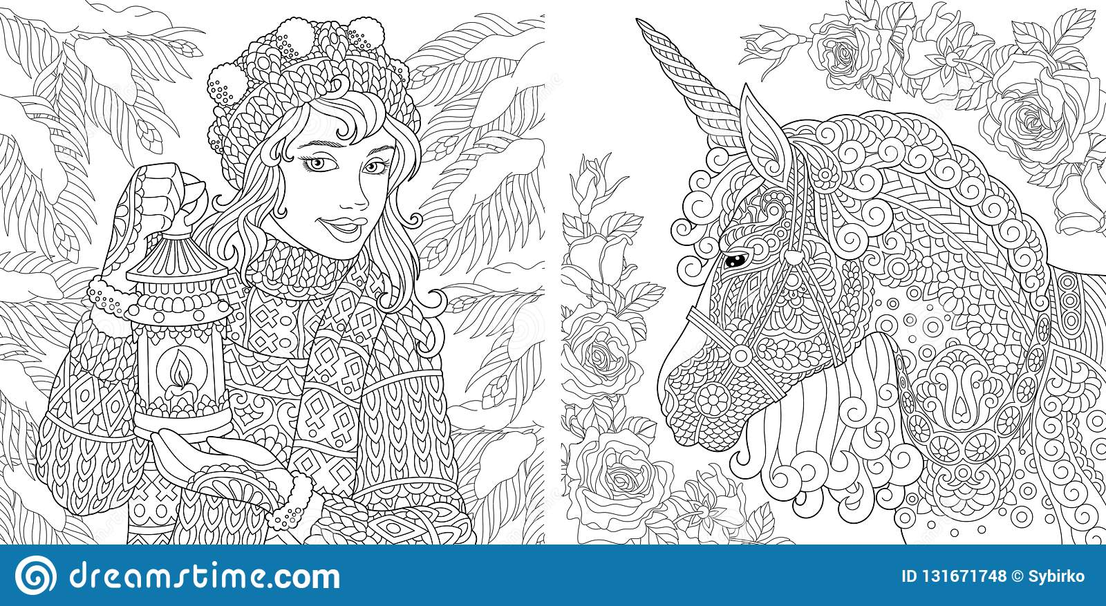 Fantasy Coloring Pages. Coloring Book For Adults. Colouring ...