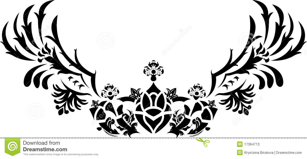 Fantasy Crown With Wings Stencil Stock Photos Image 17364713