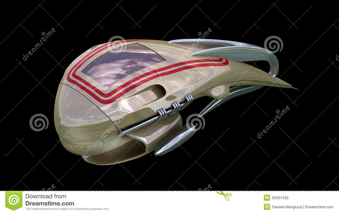 Fantasy 3d Model Of Alien Spacecraft Design Illustration 35931432