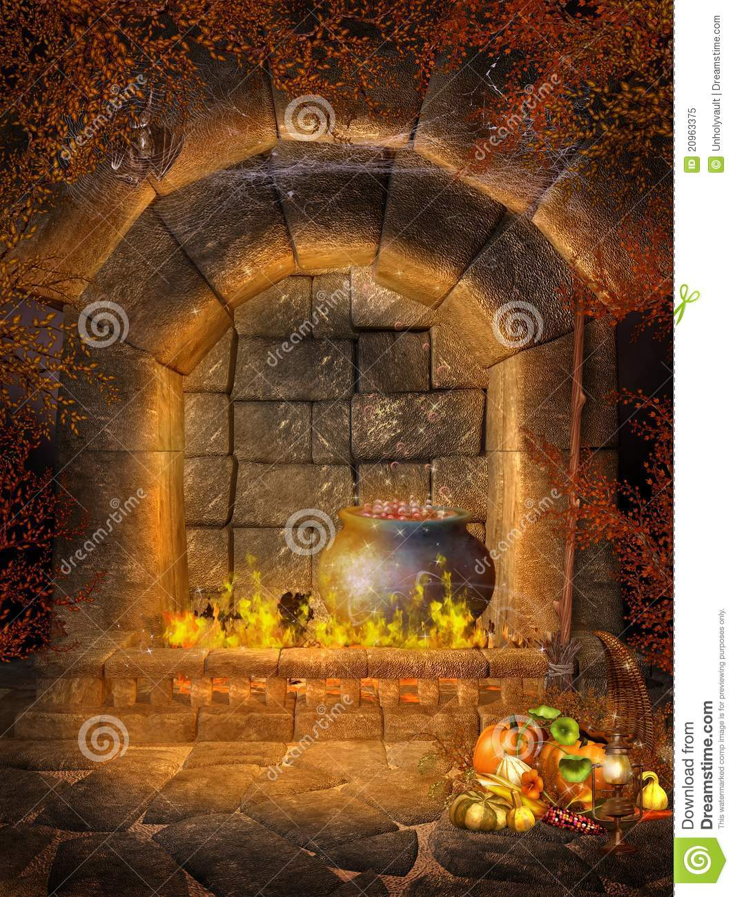 fantasy fireplace with bats royalty free stock photo image 20963375