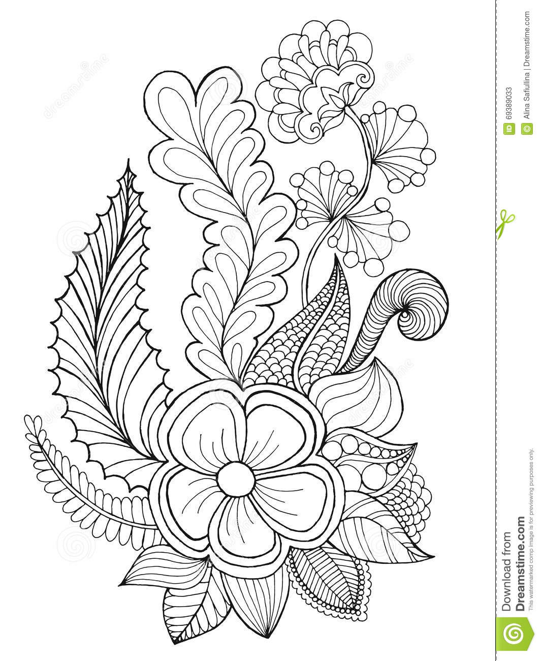 fantasy flowers coloring page stock vector image 69389033 vector shoes silhouettes vector shoes box