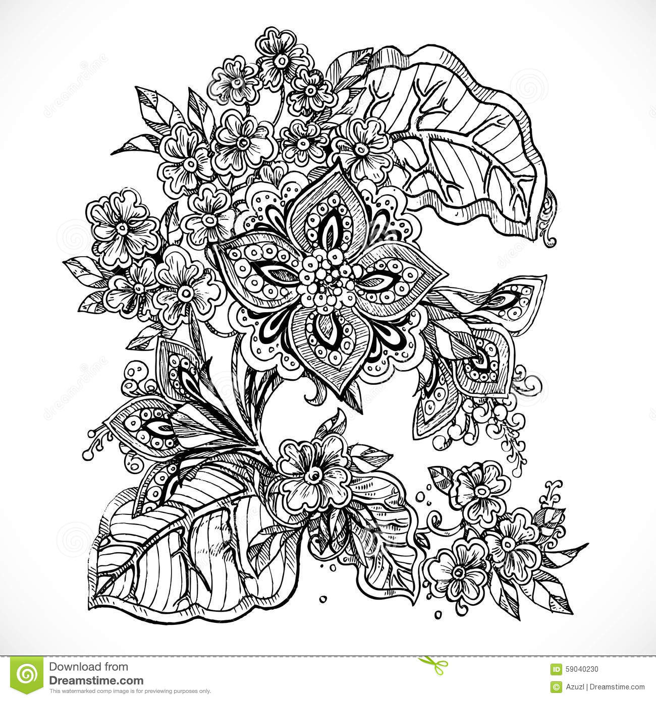Fantasy flower drawings