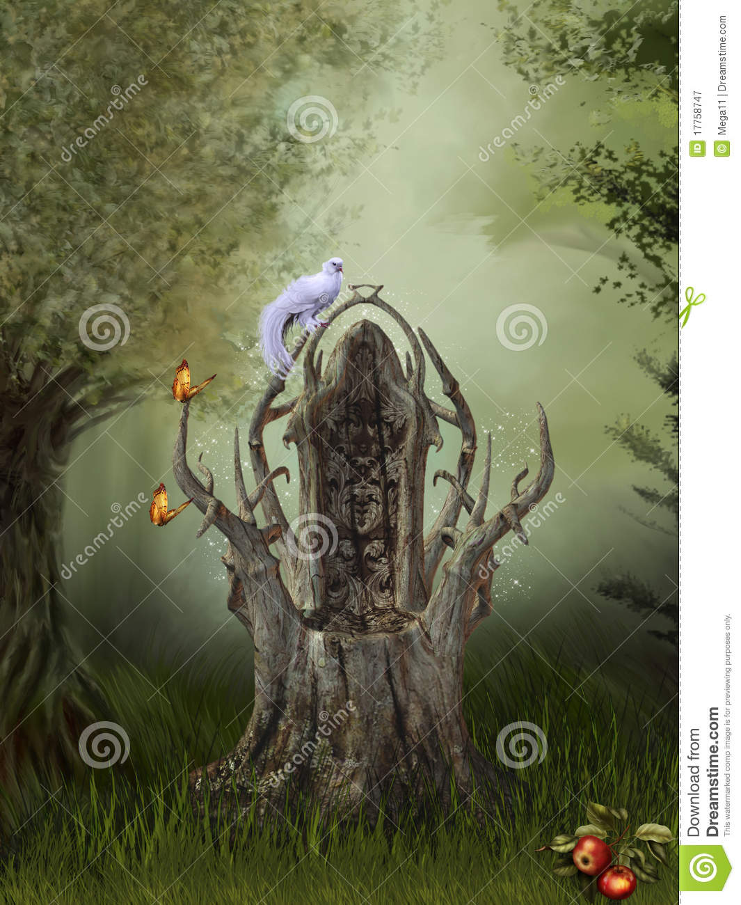 Fantasy Forest Royalty Free Stock Photography Image