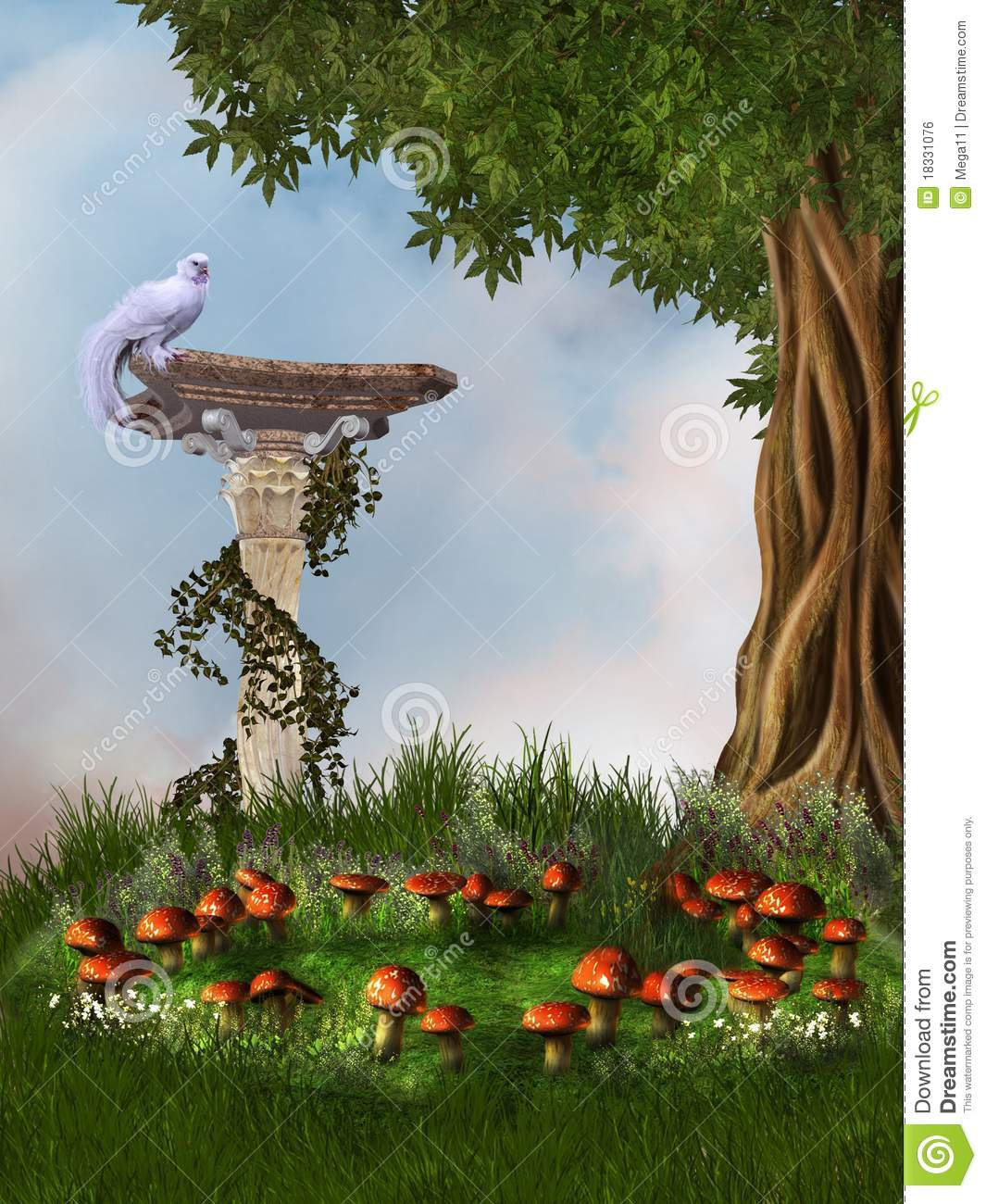 Fantasy Garden Stock Illustration Of Grass