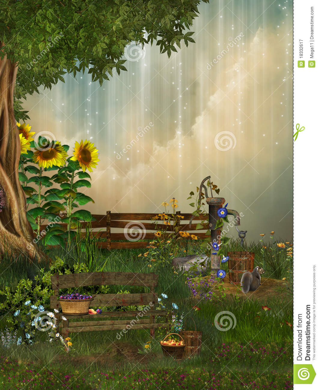 Fantasy Garden Royalty Free Stock Photography Image