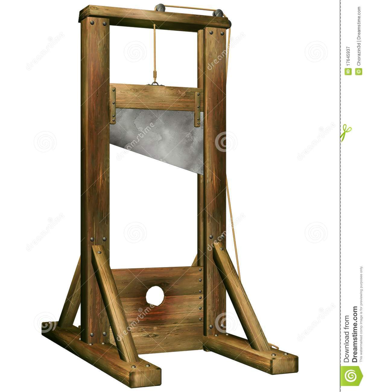 Fantasy Guillotine Royalty Free Stock Photography - Image: 17645937