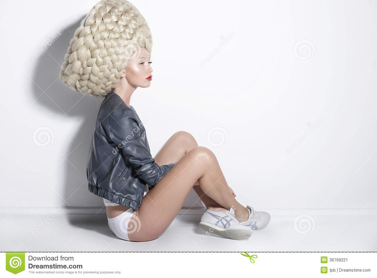 Fantasy Amp Inspiration Woman In Unusual Wig With False