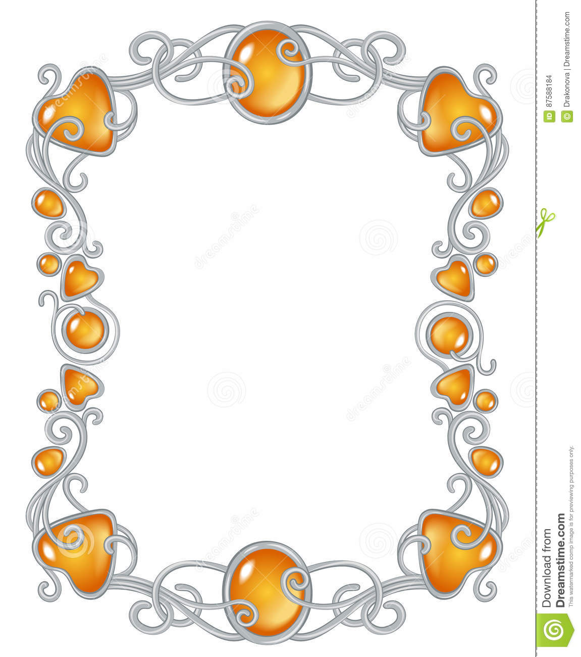 Fantasy Jewel Frame Template Stock Vector - Illustration of jewel ...