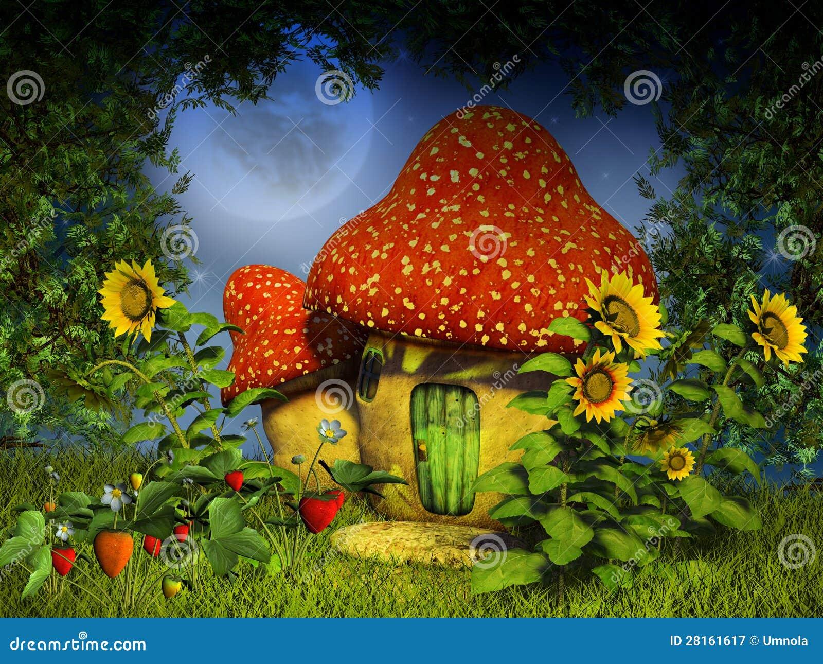 Fantasy Mushroom House Royalty Free Stock Photography