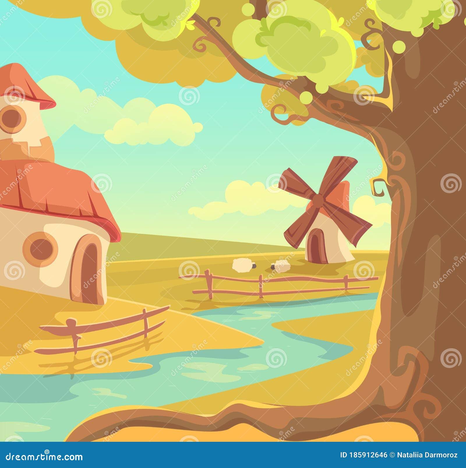Download Beautiful Fantasy Village Art JPG